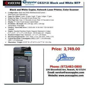 Copystar Cs 3212i Laser Mfp Print scan copy Copier