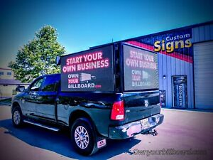 Led Truck Mount With 3 Super Bright Screens Use Your Own Truck To Advertise Big
