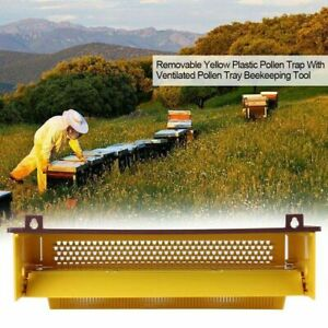 Plastic Bee Pollen Trap Collector For Apiculture Beekeeping Tools Beehive Yellow