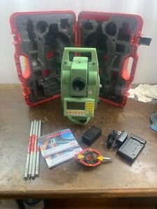 Leica Tcra 1101 Surveying Total Station With Case New Battery And Charger