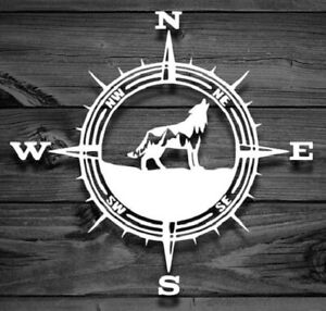 Compass Wolf Mountain Vinyl Decal sticker For Jeep Car Truck Bumper Wall Window