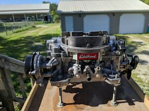 Edelbrock 1826 Thunder Series Avs Carburetor 650 Electric Choke Mustang Cougar