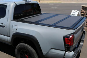 For 2005 2018 Toyota Tacoma 5 Short Bed Hard Folding Tonneau Cover Flat Top