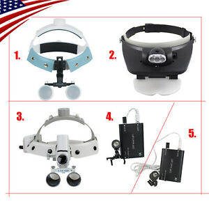 Us Led Headband Dental Surgical Medical Binocular Loupes Glass Magnifier 3 5 r