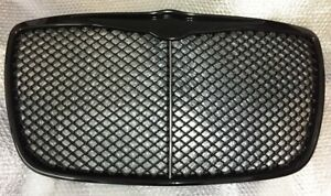 Chrome Grille Dark Tinted For 05 10 Chrysler 300c Bentley Gt Sport Look