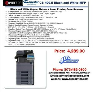 Copystar Cs 4003i Laser Mfp Print scan copy Copier