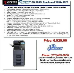 Copystar Cs 5003i Laser Mfp Print scan copy Copier
