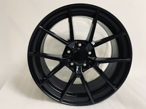 19 Satin Black New Csl Style Wheels Rims Fits Bmw 3 Series Staggered