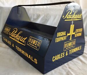 Antique Packard Gm Car Auto Parts Tool Caddy Shop Garage Advertising