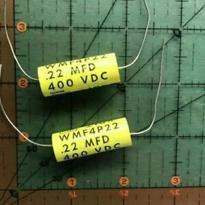 22uf 400v Cornell Dubilier Axial Film Audio Capacitor Wmf4p22 10 Polyester 2pc