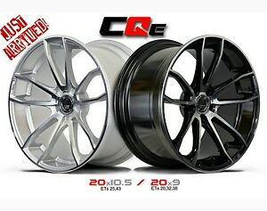 20x9 20x10 5 Lenso Axe Lenso Cqe Staggered Wheels Silver black machined New