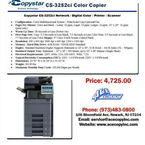 Copystar Cs 3252ci Laser Mfp Print scan copy Color Copier