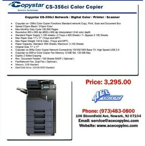 Copystar Cs 356ci Laser Mfp Print scan copy Color Copier