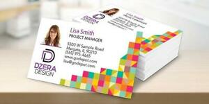 Full Color Gloss Custom Business Cards Free Ship Layout 1 Or 2 Sides