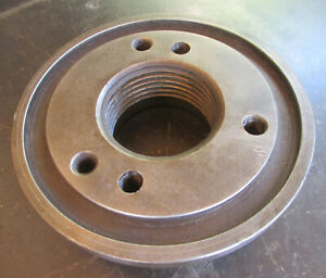 Vintage antique 7 Early Lathe Dog Drive Plate Chuck 3 X 5 Tpi Free Ship