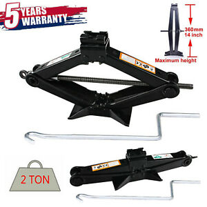 2 Ton Car Scissor Jack W Crank Emergency Lift Stand Tool Car Truck Repair Tool