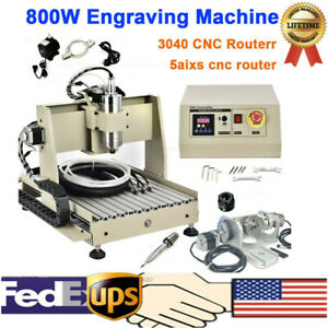 5axis 800w Cnc Router 3040 Engraver Engraving Drilling milling Machine Ball Scre