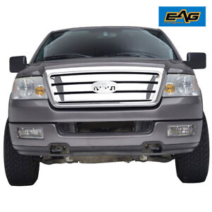Eag Replacement Grille Upper Full Grill W Shell Fit 04 08 Ford F150 Chrome