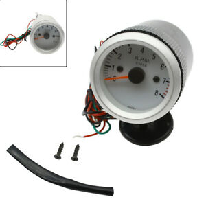 2 52mm Tachometer Tach Gauge With Holder Cup Led For Auto Car 0 8000rpm G1e2 Us