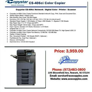Copystar Cs 406ci Laser Mfp Print scan copy Color Copier