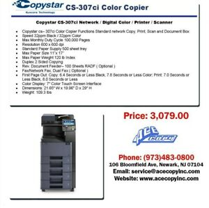 Copystar Cs 307ci Laser Mfp Print scan copy Color Copier