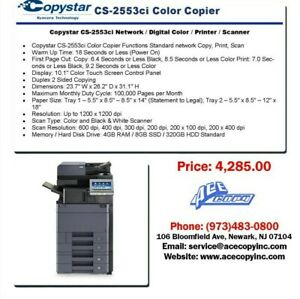Copystar Cs 2553ci Laser Mfp Print scan copy Color Copier
