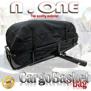 2 Hitch Carrier Cargo Basket Bag Rack Storage Holder Combo For Cadillac