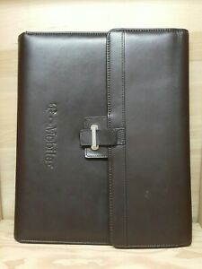 Cutter Buck Brown Leather Tri fold Notepad Holder T Mobile Embossed