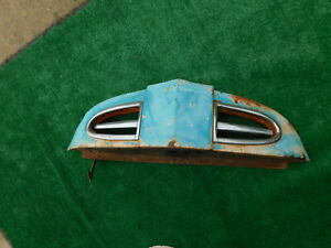 1948 1949 1950 Ford Truck Hood Nose With Chrome Trim Bottom Brace
