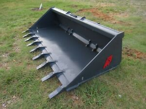 Solesbee 80 Hd Low Profile Skid Steer Track Loader Tooth Bucket Attachment