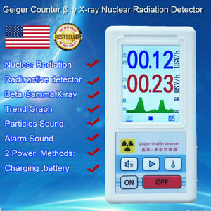 Digital Lcd Nuclear Radiation Detector Gamma Beta X ray Tester Geiger Counter