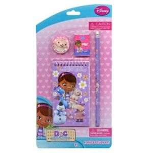 Doc Mcstuffins 4 Piece Personalized Study Kit stationery Set memo Pad Eraser