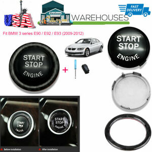 Black Car Engine Start Button Switches Replacement Ring Kit For Bmw E Series Usa
