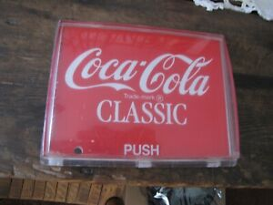Coca-Cola Classic Push Button from Soda Machine  7' by 51/2