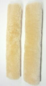 New Champagne Color 100 Genuine Sheepskin Seat Belt Cover Comforter