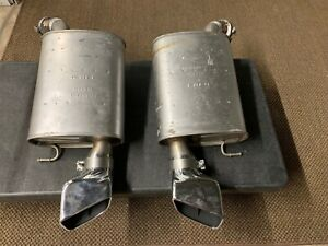 Ford Mustang Gt Oem Muffler F1 8388 R F1 8388 L Steel Chrome Exhaust Set Of 2