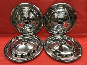 Vintage Set Of 4 1957 Chevrolet 14 Hubcaps Bel Air Two Ten Nomad