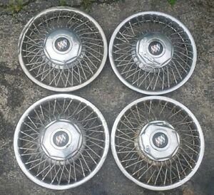 Set Of 4 Oem 1989 91 Fwd Buick Electra Lesabre 14 Wire Spoke Hubcap Wheel Cover