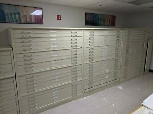 Hamilton Large Flat File Map Plan Cabinet 5 Drawer 42 x 30 We Ship