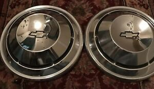1968 1969 1970 Chevy Copo Dog Dish Hubcaps Nova Chevelle Camaro Two
