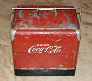 Early COCA COLA Original Cooler-Ice Chest-Nice Condition-with Lid and Handle