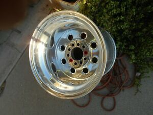Used Weld Racing Draglite Series 90 Polished Aluminum 15 X 15 Inch Wheel