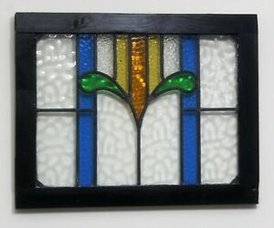 Stained Glass Window Door Panel Handcrafted Art Deco Style