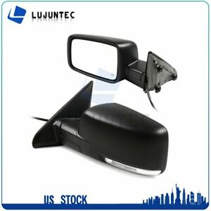 Left Right Side Mirror Signal Black Power Heated Fits For 2009 15 Dodge Ram