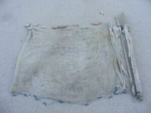 Old Fishing Seine Net With Wood Floats 20 Foot Long