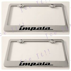 2x Impala Stainless Steel License Plate Frame Rust Free
