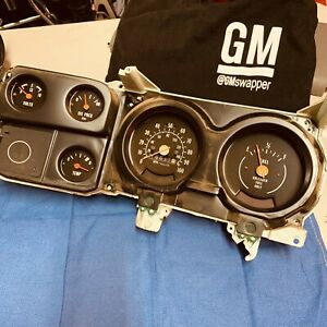 73 80 Chevy Silverado Gmc Sierra Truck Dash Instrument Cluster Guages Assembly 1