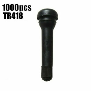 1000pcs Tr418 Snap in Tubeless Tire Valve Stems 1 1 4 32 Rubber Standard 2