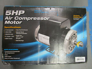Marathon 5hp Air Compressor Motor W Drip proof Enclosure Gex0b386 Brand New