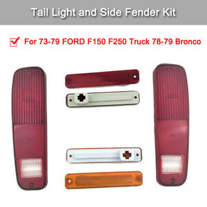 1 Kit High Quality Car Tail Light Kit Suit For 78 79 Bronco 1973 1979 Ford